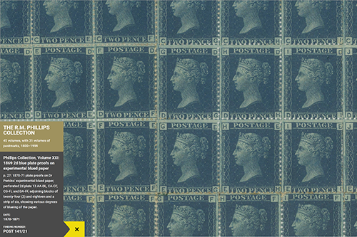 We joined Good, Form & Spectacle to design and build an interactive tool for exploring Postal Museum's newly digitised collections, starting with the history of the UK postage stamp.
